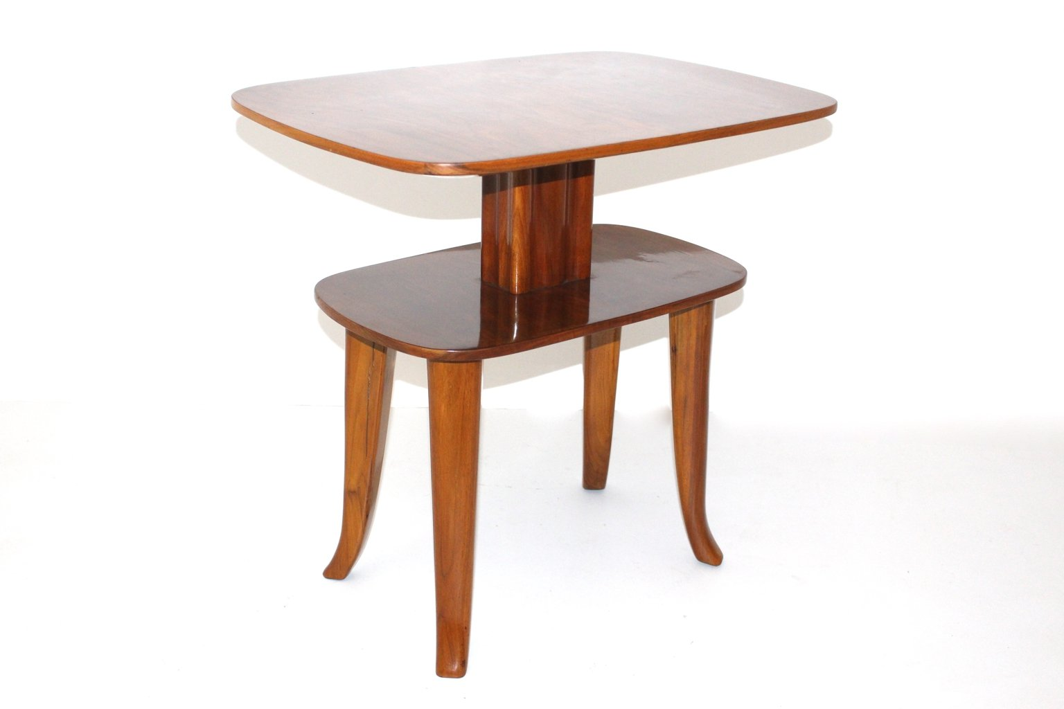 Vintage Viennese Two Tiered Side Table