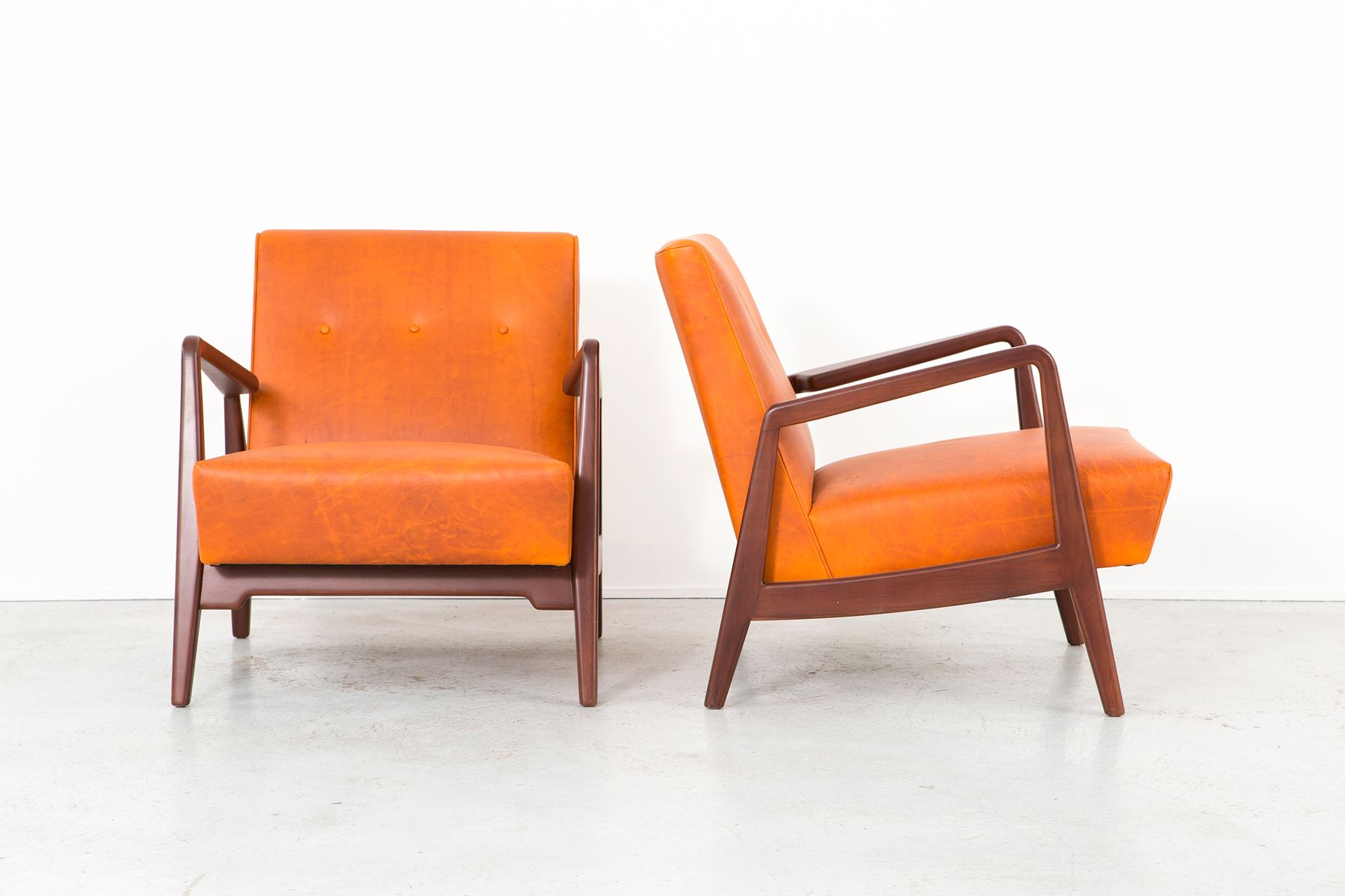 Jens Risom Side Chair Lounge Chairs By Jens Risom 1950s Set Of 2 For Sale At Pamono