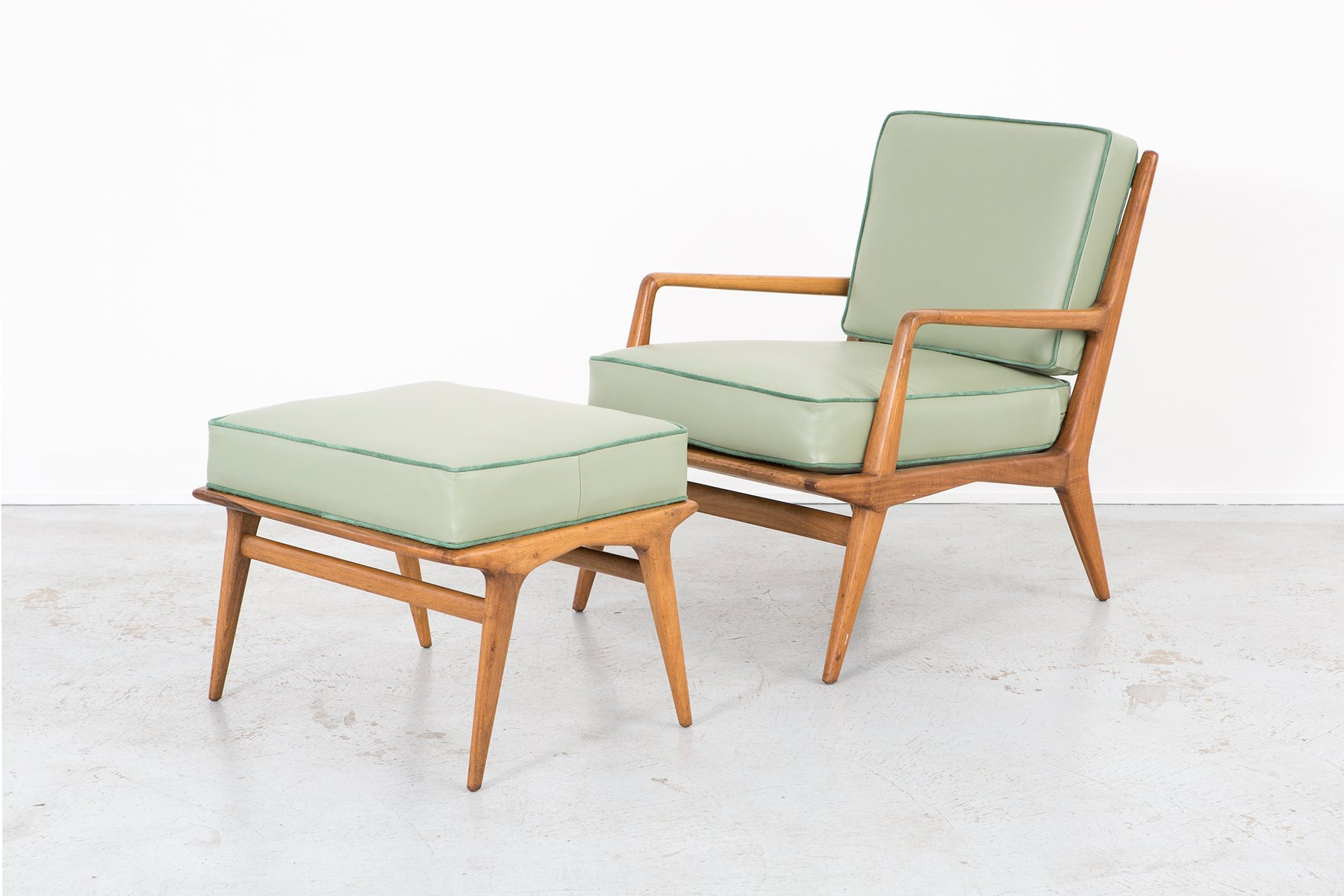 Lounge Chair & Ottoman by Carlo Di Carli for M Singer and Sons