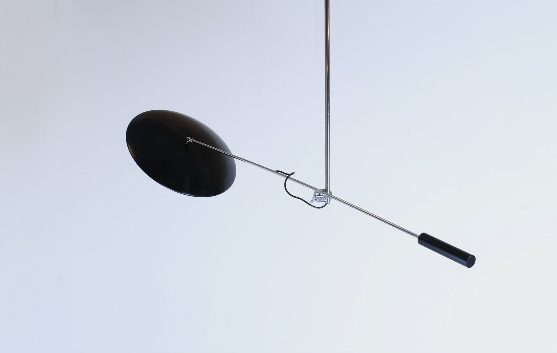 vintage ceiling lighting. vintage black u0026 chromed counter balance weight ceiling light from queen gallery lighting