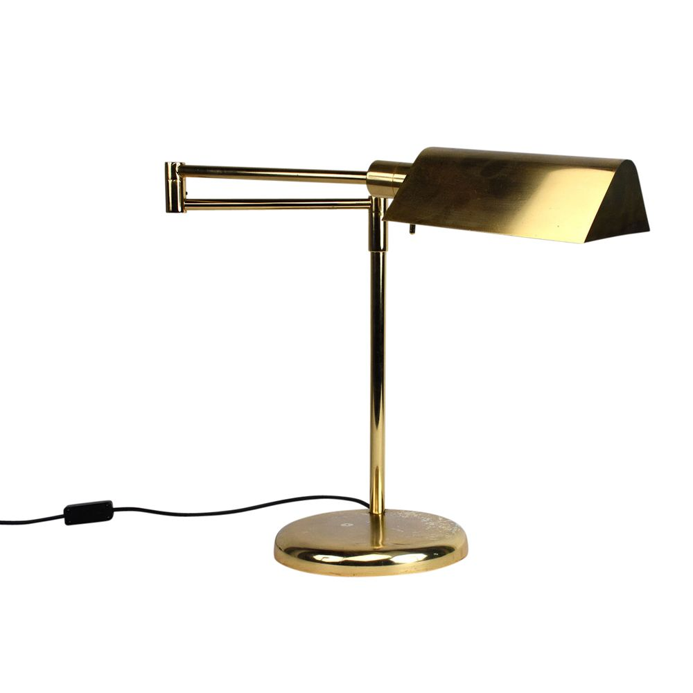 Vintage Brass Plated Table Lamp By Koch Amp Lowy 1960s For