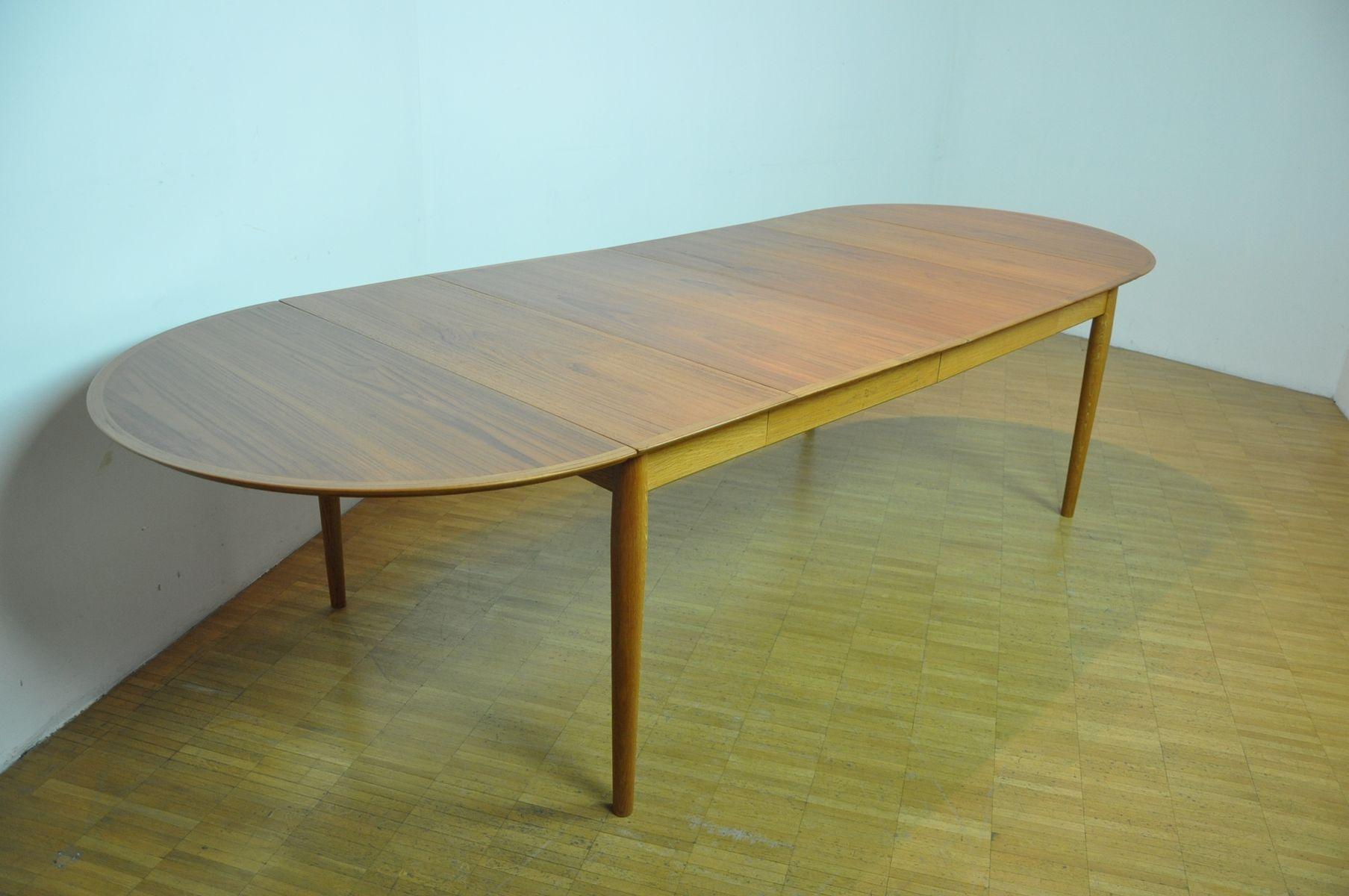 ausziehbarer tisch von arne vodder f r sibast 1950er bei. Black Bedroom Furniture Sets. Home Design Ideas