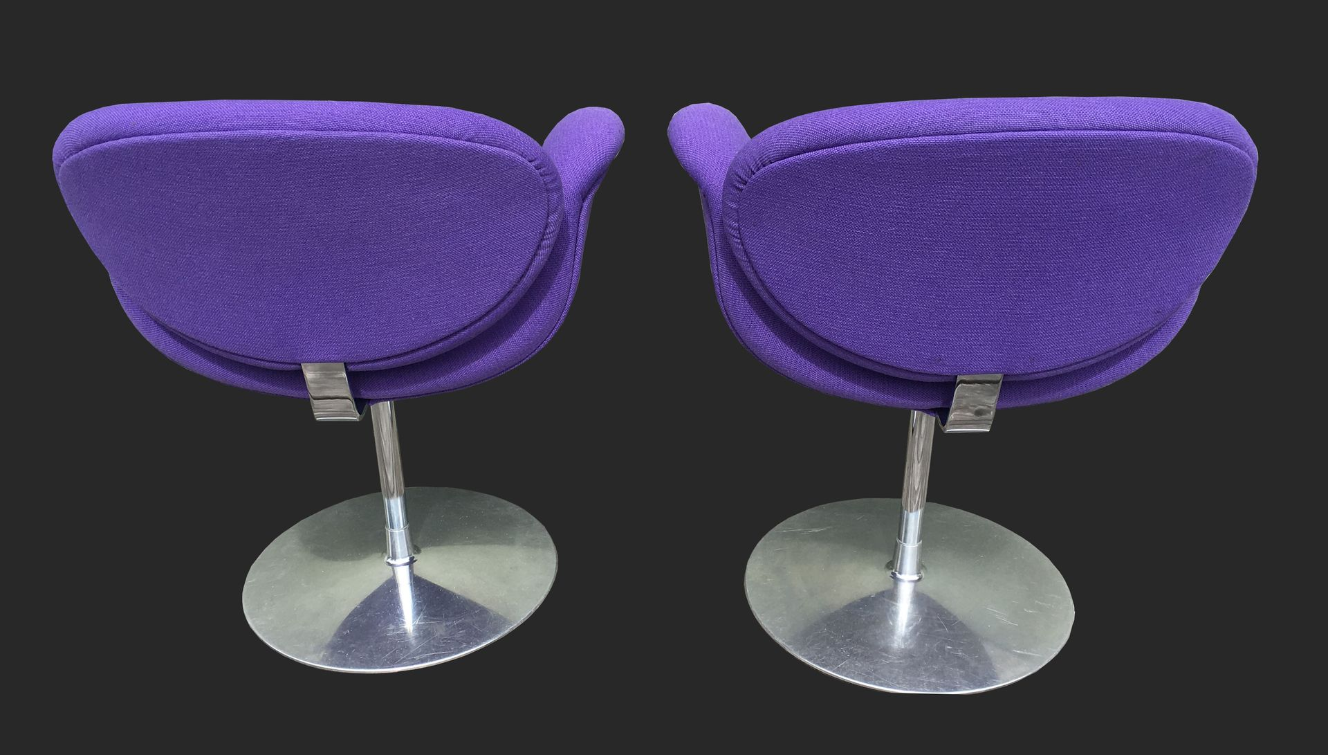 Small tulip chairs by pierre paulin for artifort 1970s set of 2 for sale at pamono - Tulip chairs for sale ...