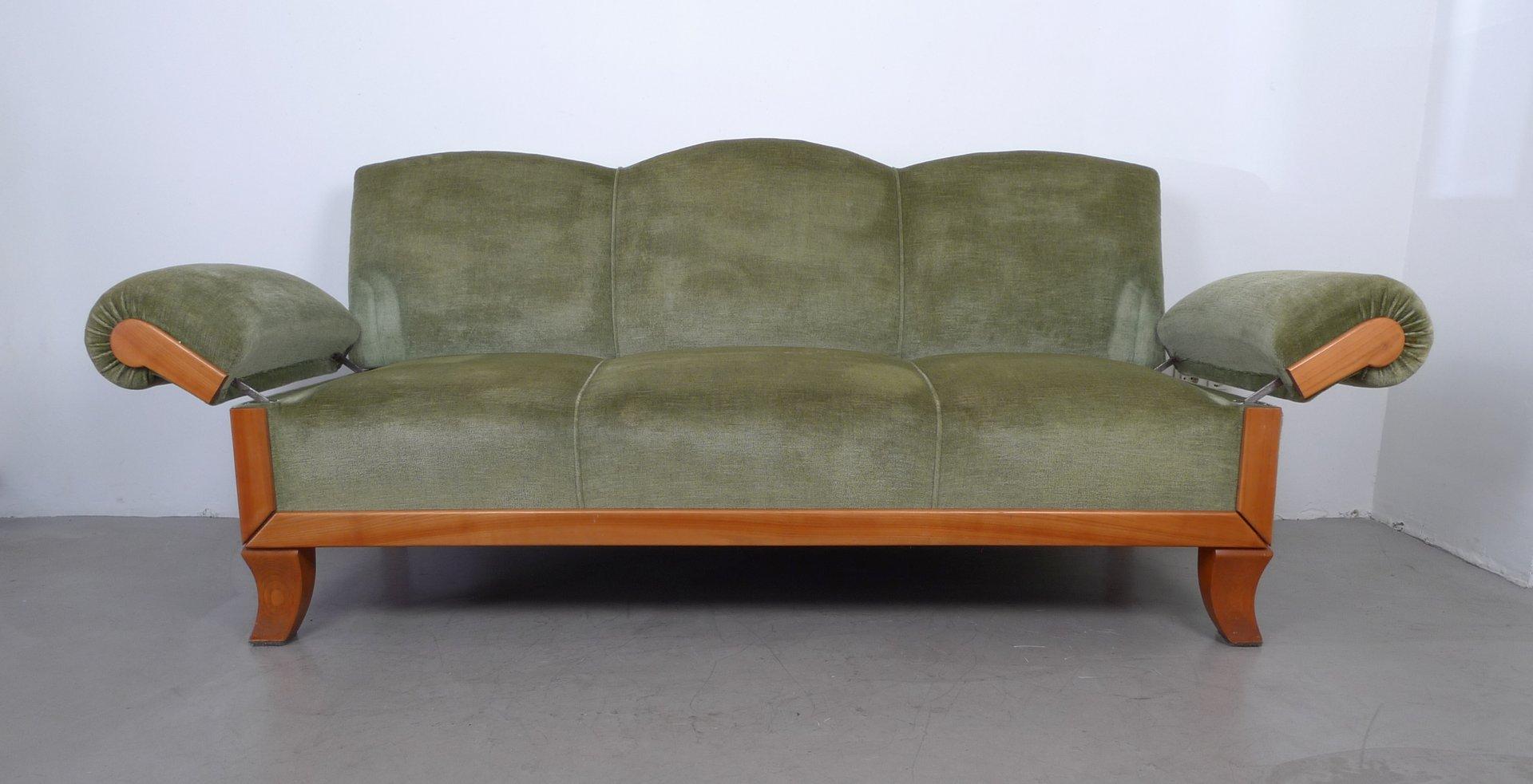 3 sitzer sofa aus kirschholz von joseph kreuzburg 1930er bei pamono kaufen Hundeurin aus sofa entfernen