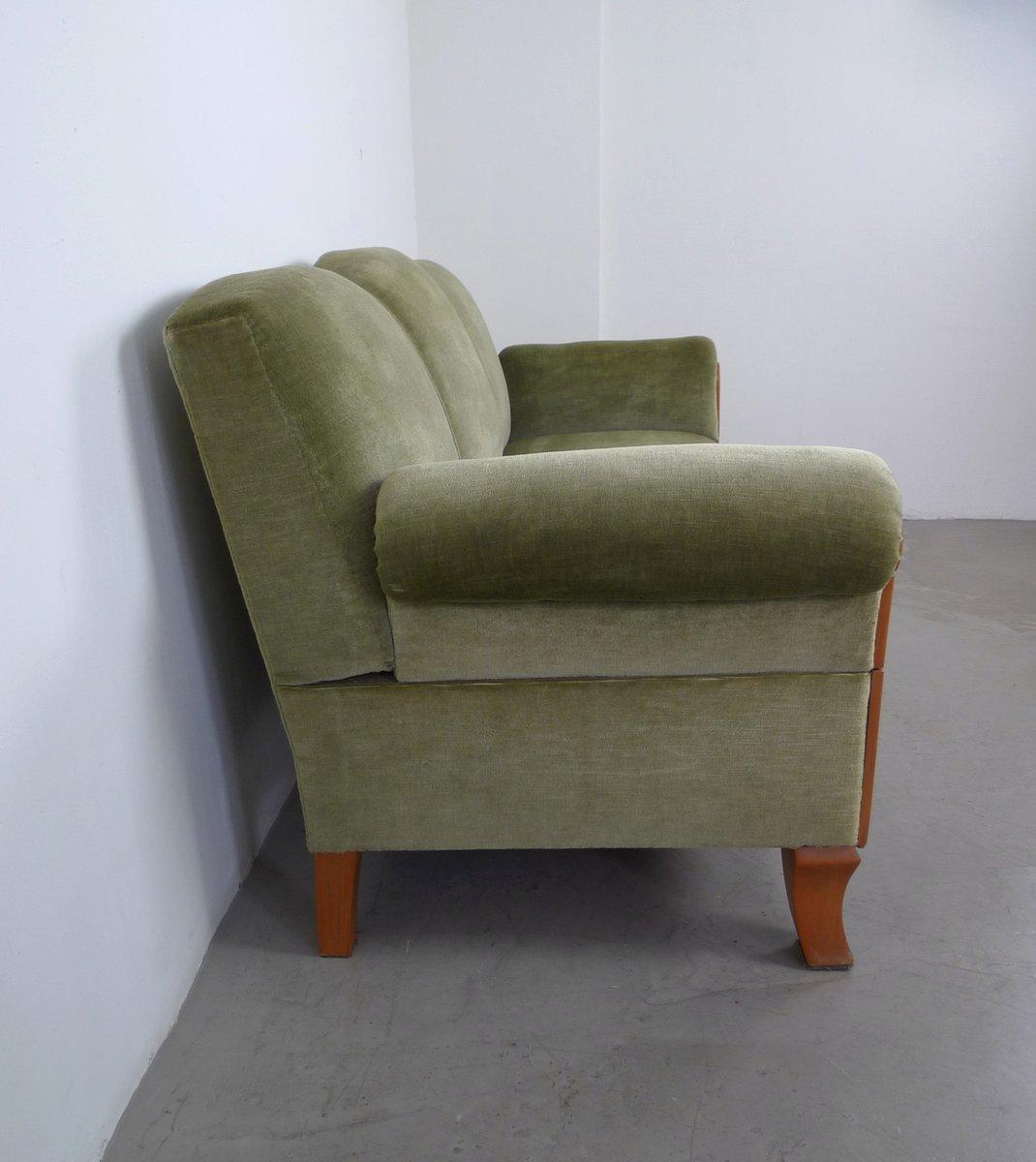 3 seater cherry framed sofa from joseph kreuzburg 1930s for sale at pamono. Black Bedroom Furniture Sets. Home Design Ideas
