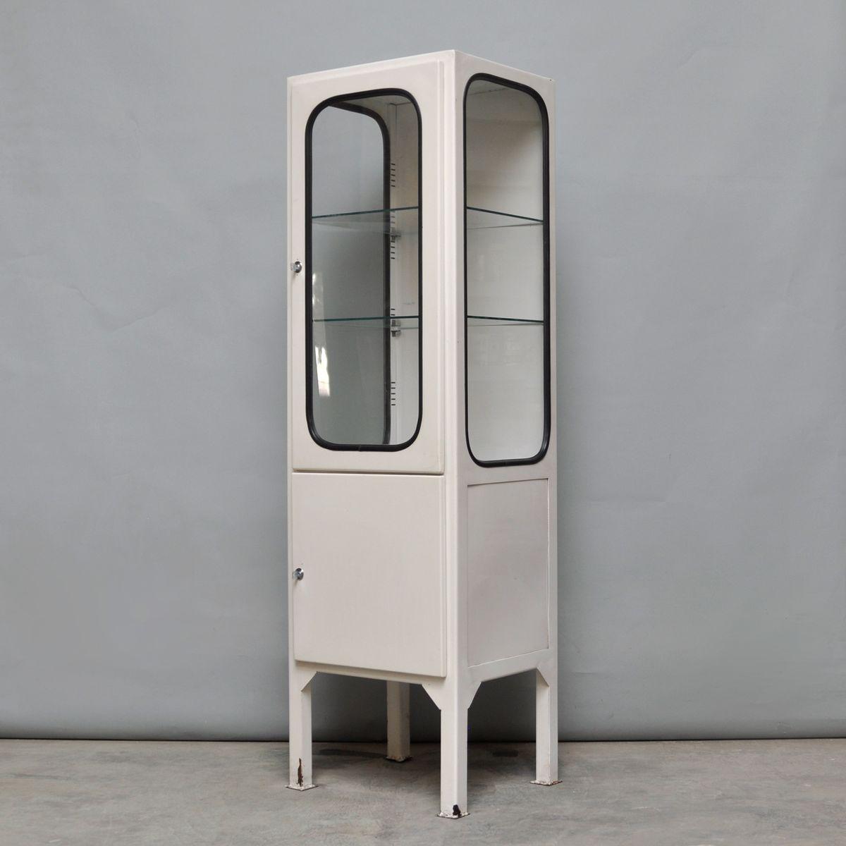 vintage medicine cabinet with two glass shelves 1970s for. Black Bedroom Furniture Sets. Home Design Ideas