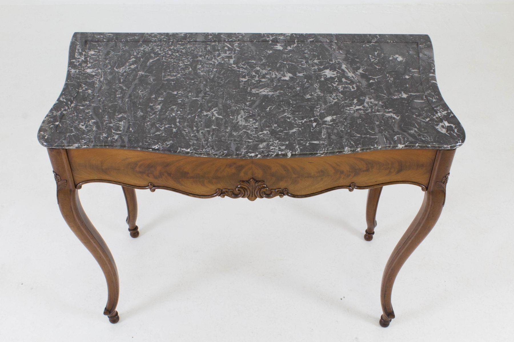 French louis philippe side table with marble top 1860s for Table louis philippe