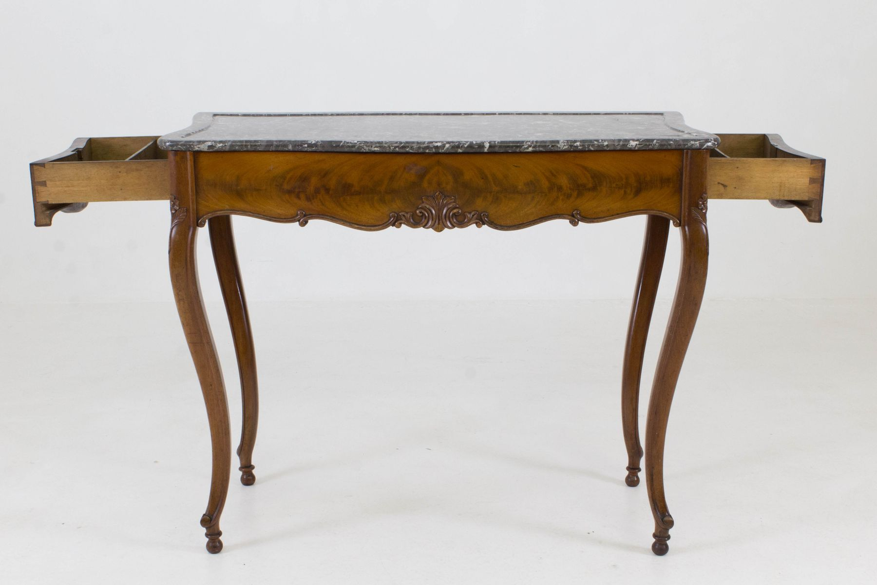 French louis philippe side table with marble top 1860s for Table ronde louis philippe