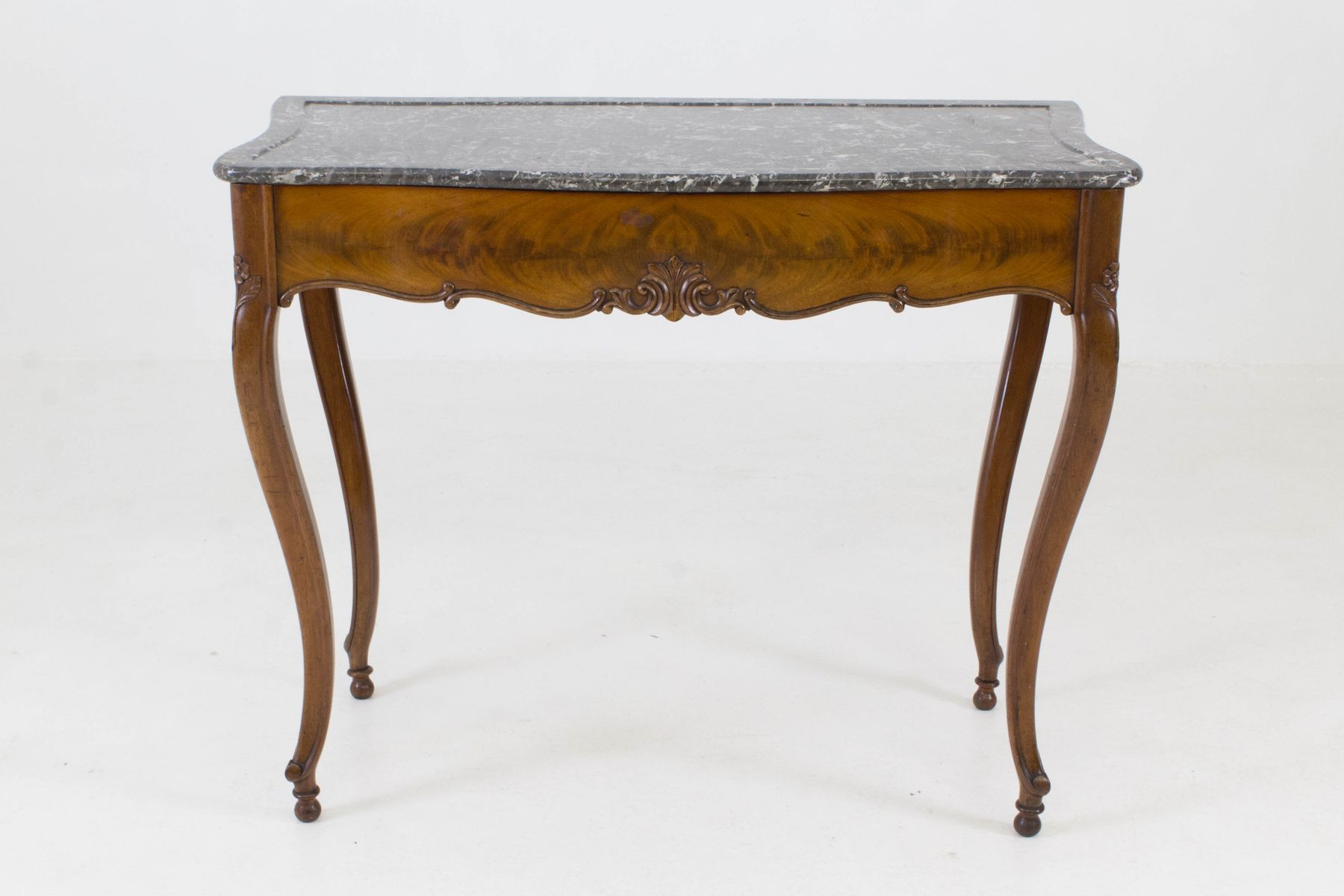 marble top french provincial or french country side table ni
