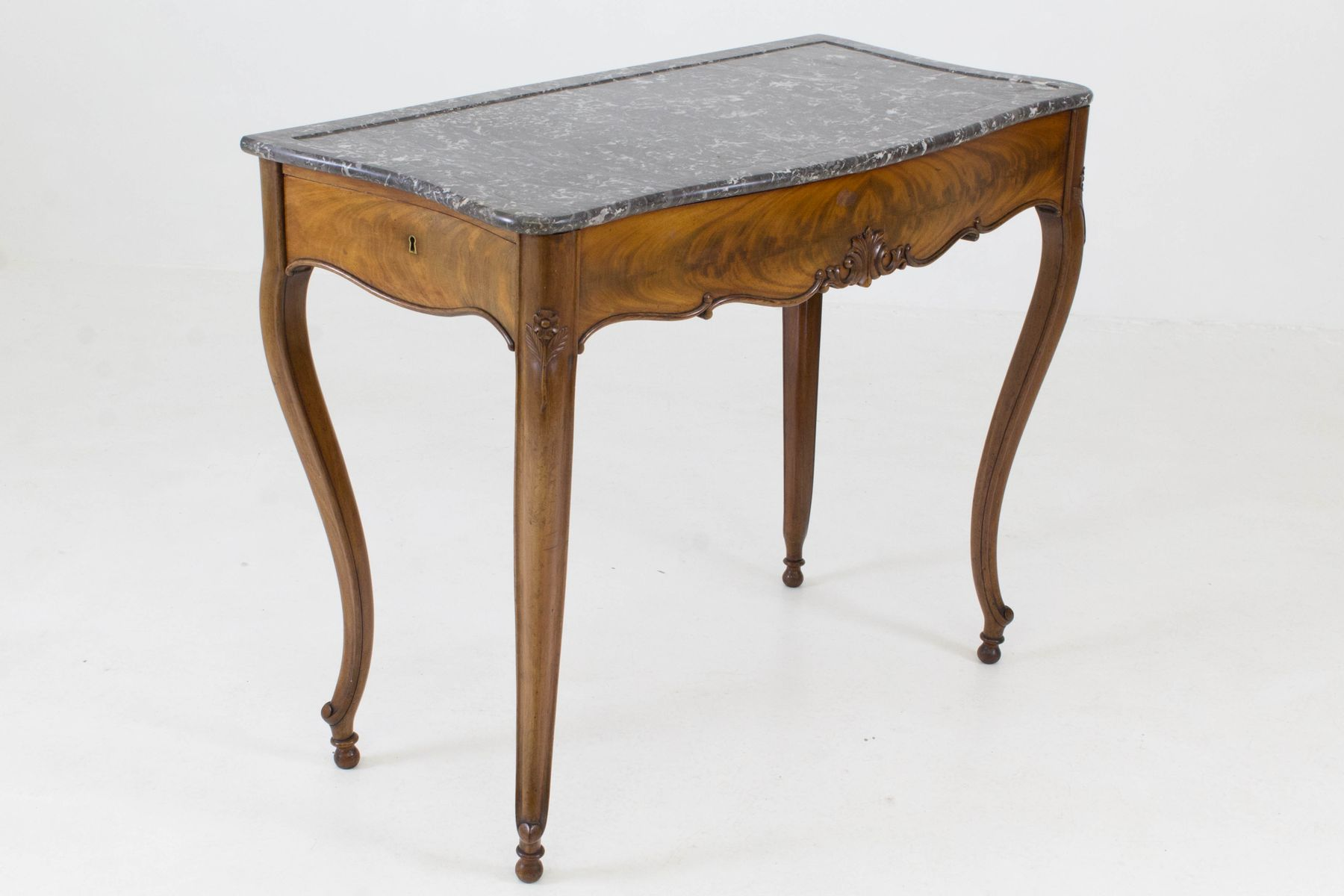 Marble top side table - French Louis Philippe Side Table With Marble Top 1860s