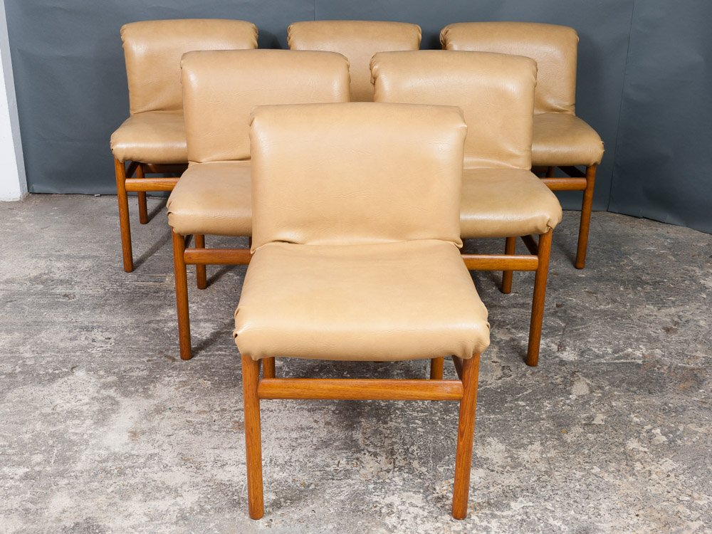 Dining table six chairs from white newton 1960s for for White dining table and chairs for sale