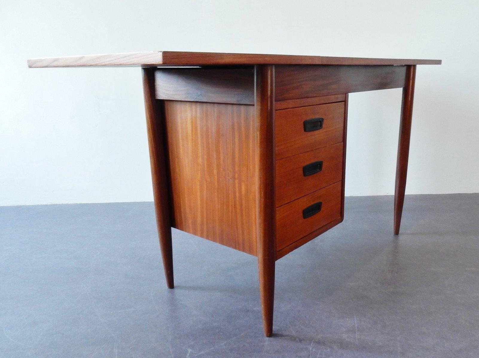 Small Teak Veneer Desk 1960s For Sale At Pamono