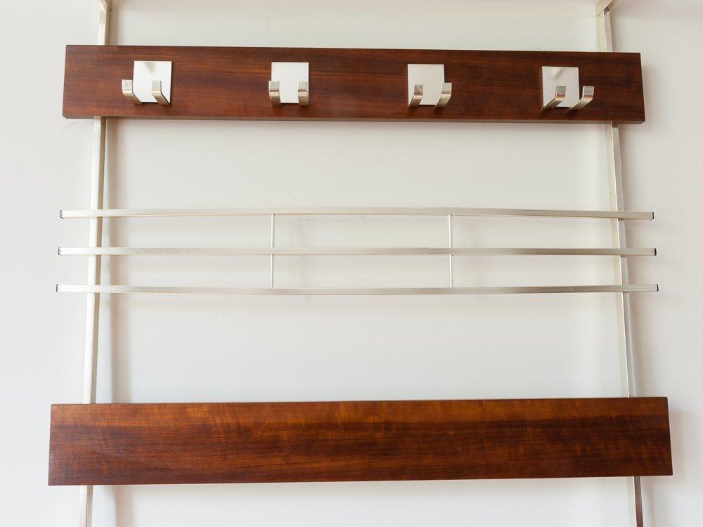 vintage german wall hanging teak coat rack for sale at pamono. Black Bedroom Furniture Sets. Home Design Ideas