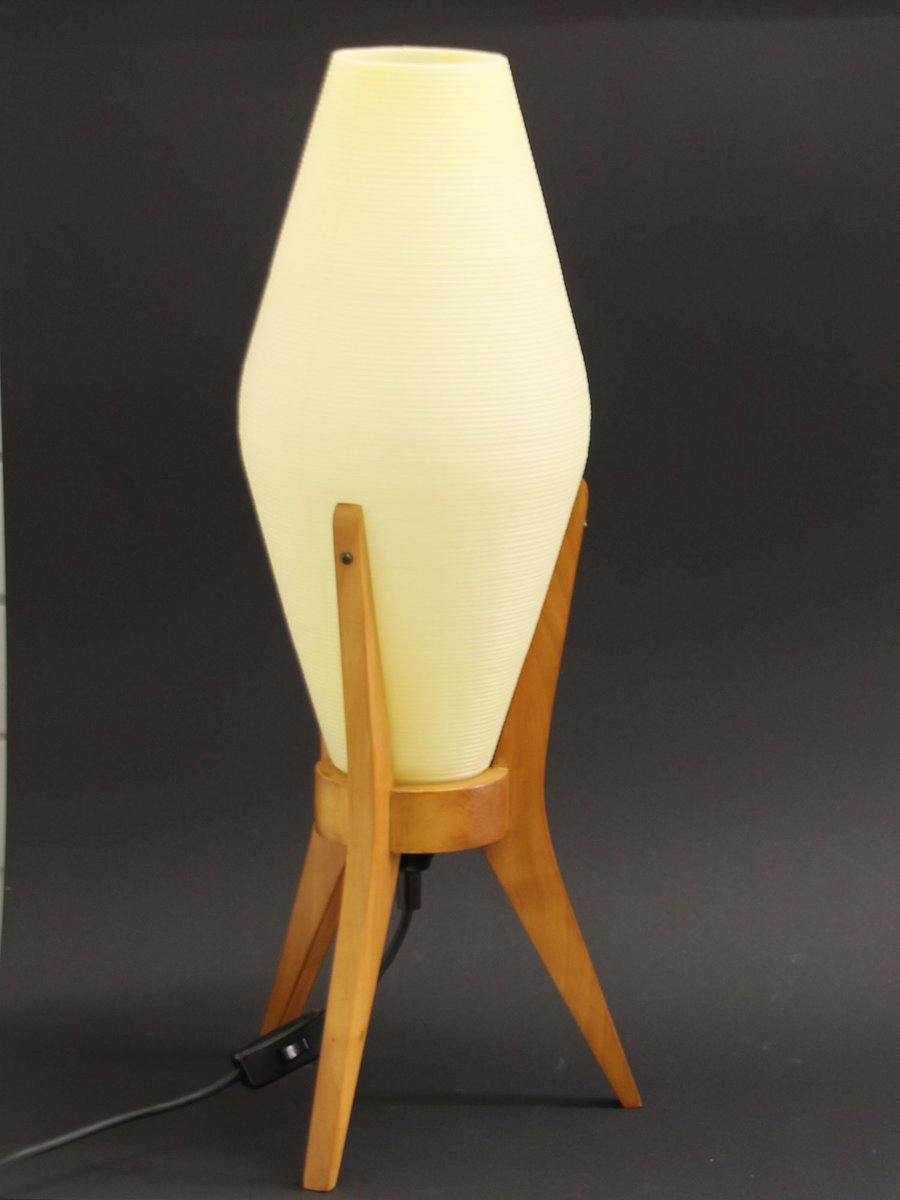 Vintage teak rocket table lamp 1950s for sale at pamono geotapseo Gallery