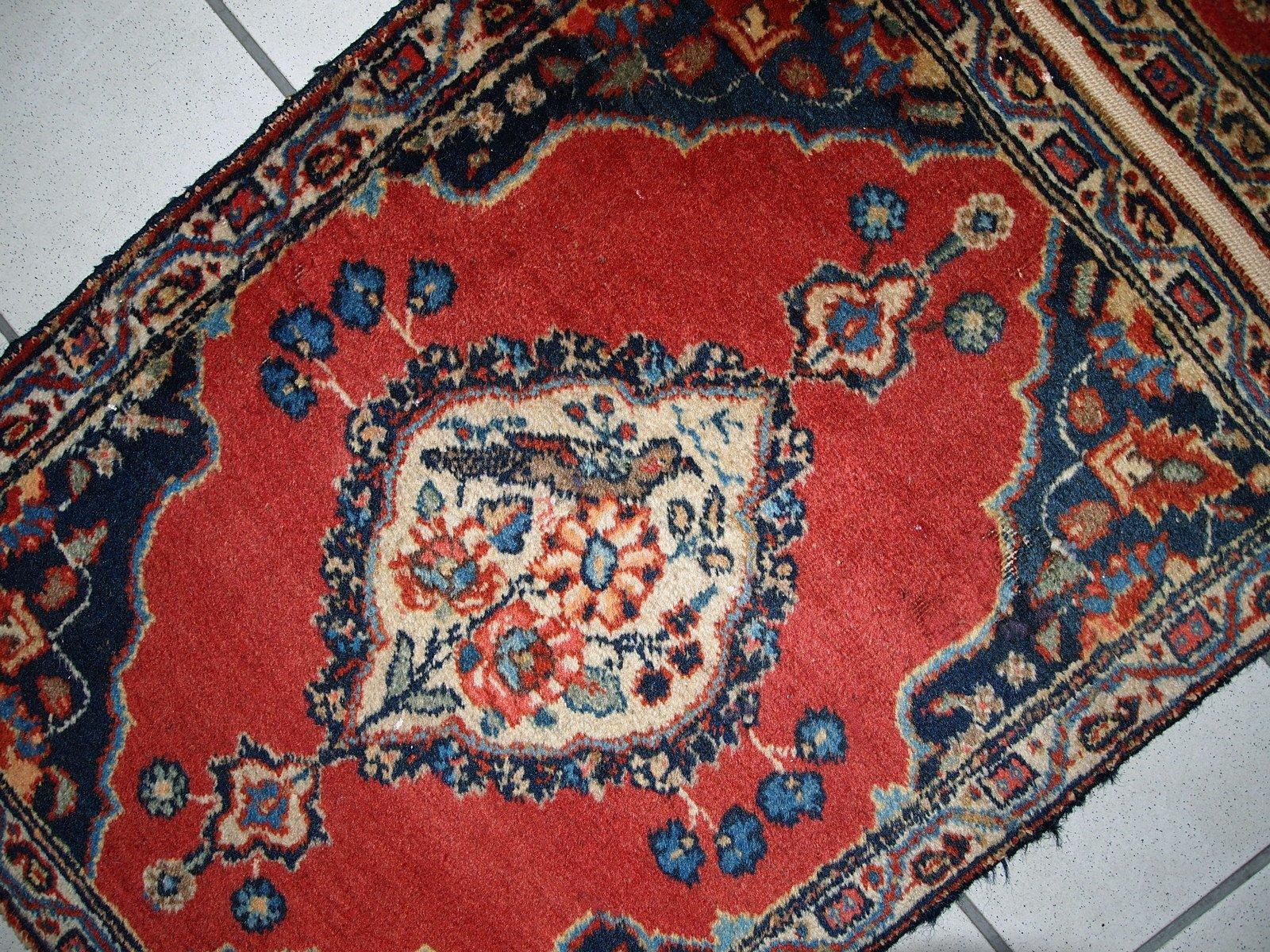 antiker handgemachter persischer tabriz teppich 1910er. Black Bedroom Furniture Sets. Home Design Ideas