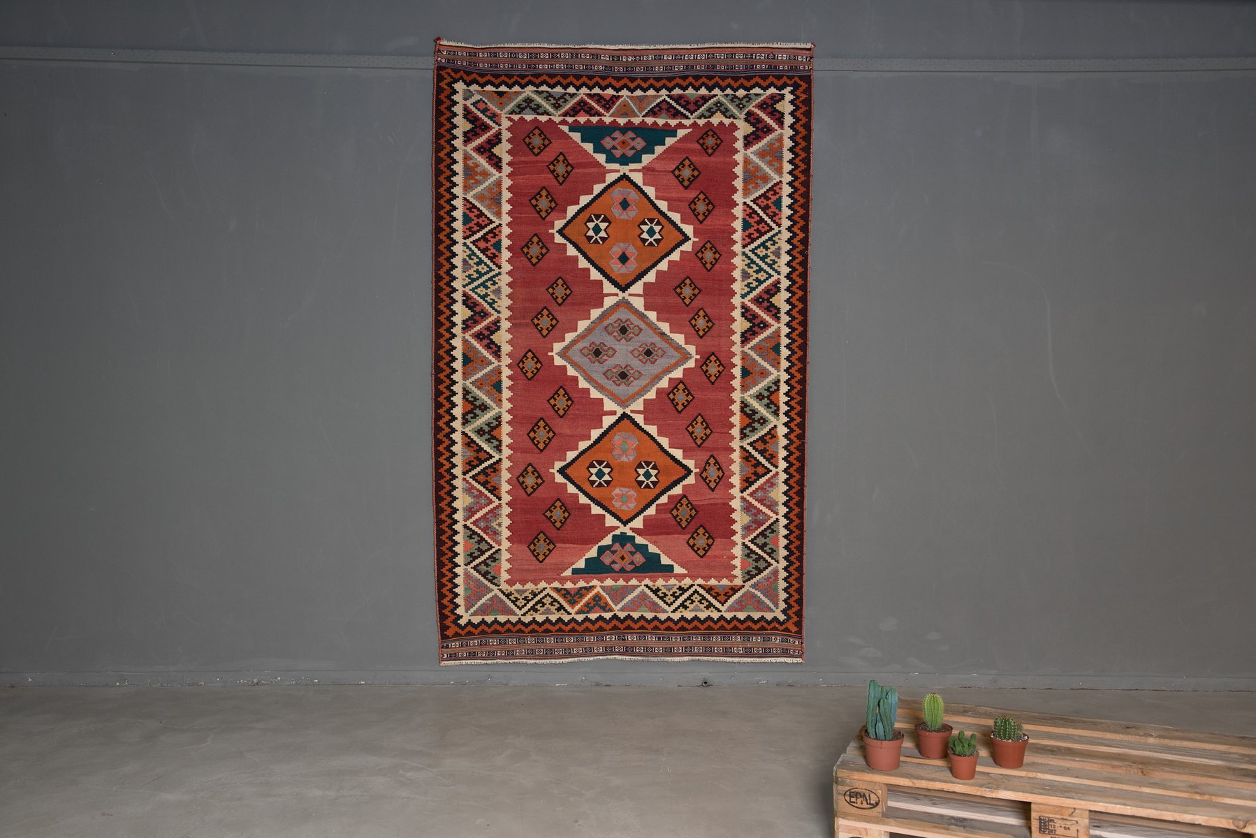 vintage kilim levant teppich 1960er bei pamono kaufen. Black Bedroom Furniture Sets. Home Design Ideas
