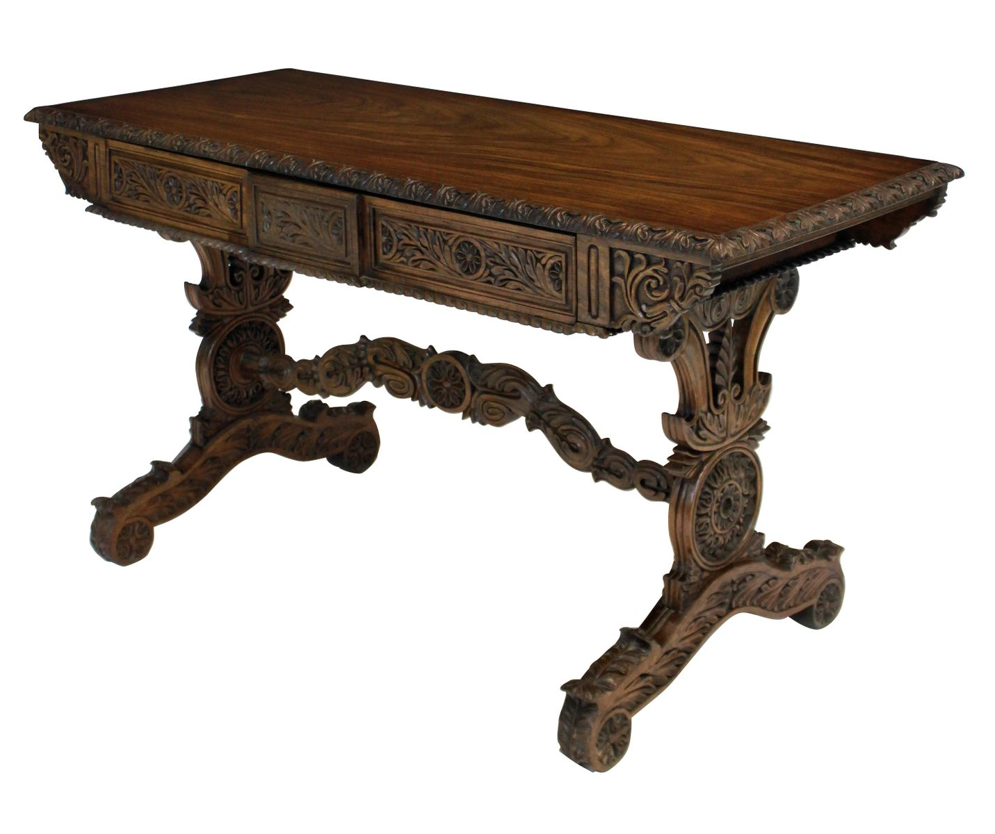 anglo indian rosewood dining table 1830s for sale at pamono. Black Bedroom Furniture Sets. Home Design Ideas