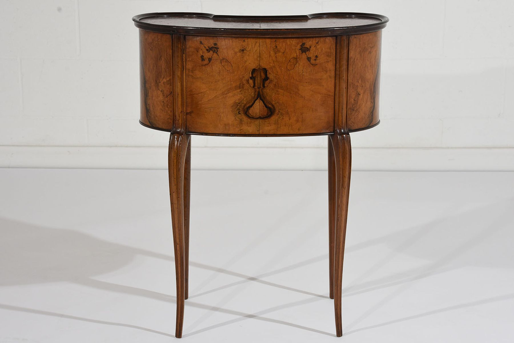 Antique French Louis XVI Style Kidney End Table for sale at Pamono