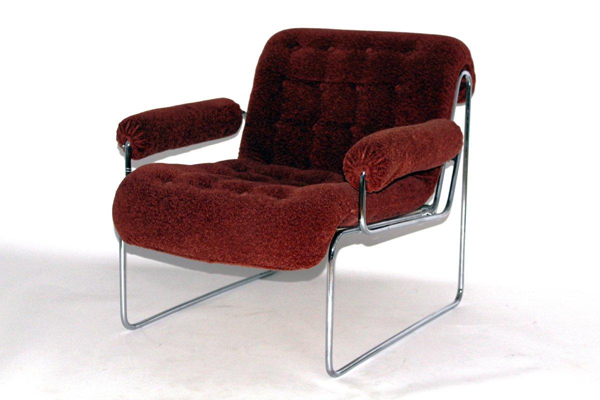 sessel mit gestell aus stahlrohr von sonett 1960er bei pamono kaufen. Black Bedroom Furniture Sets. Home Design Ideas