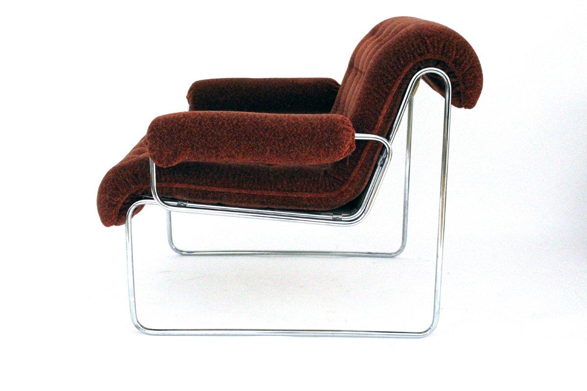 sessel mit gestell aus stahlrohr von sonett 1960er bei. Black Bedroom Furniture Sets. Home Design Ideas
