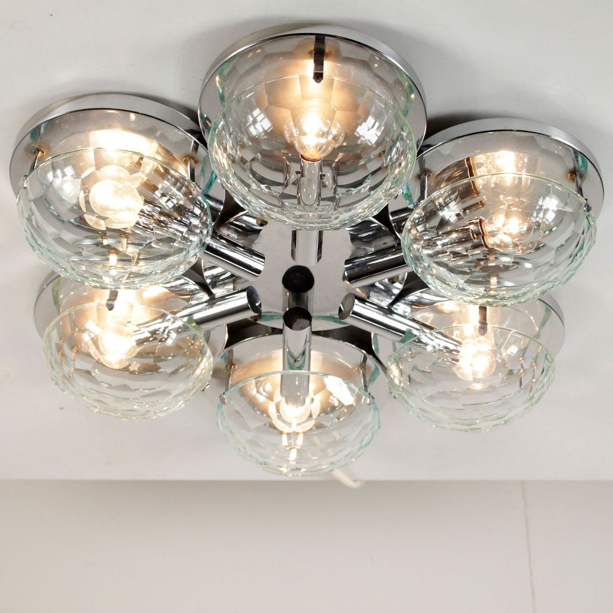 Pimlico Wall Lamp In Glass : Wall Lamp in Chromed Metal & Glass, 1960s for sale at Pamono