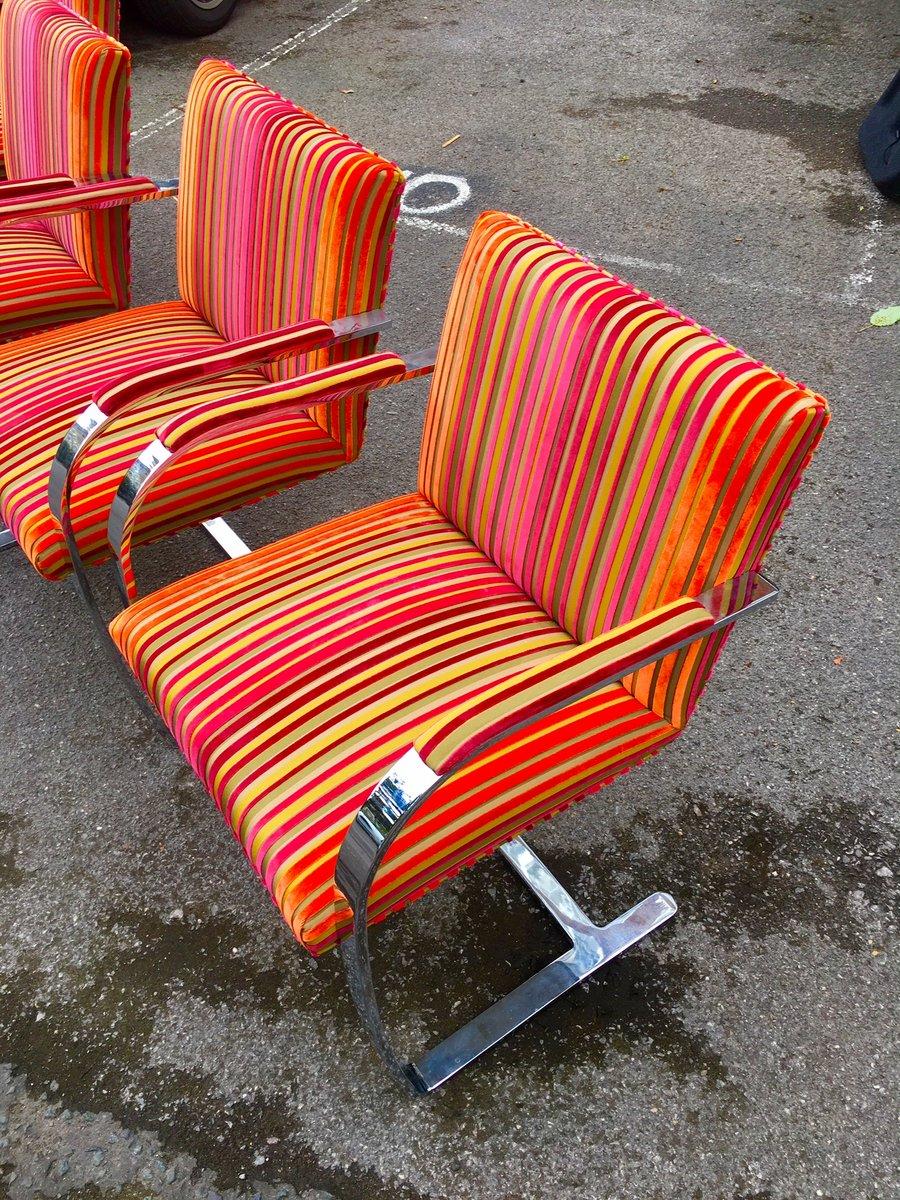 vintage brno sessel von ludwig mies van der rohe f r knoll 4er set bei pamono kaufen. Black Bedroom Furniture Sets. Home Design Ideas