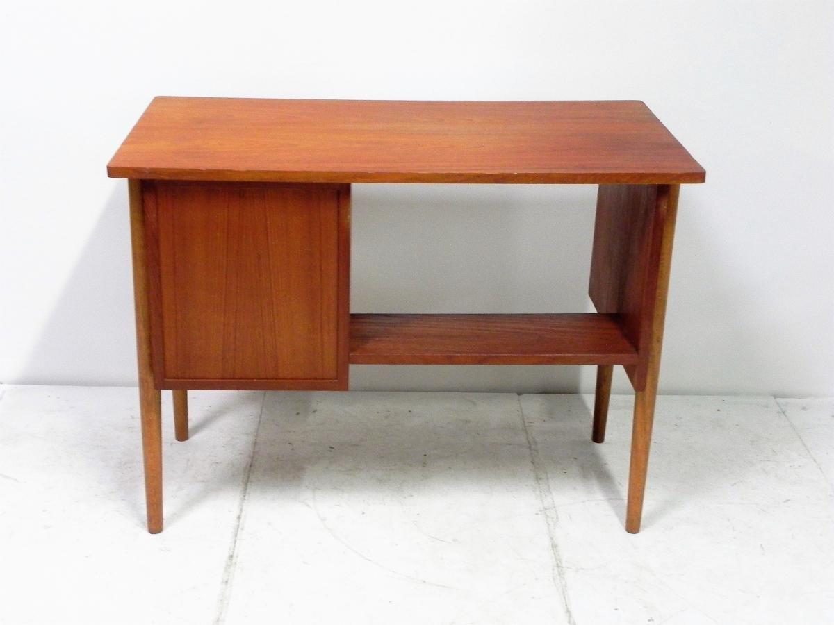 Small Vintage Danish Teak Desk For Sale At Pamono