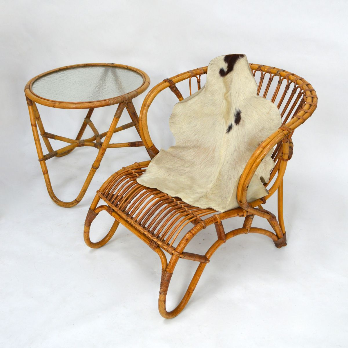 rattan garden lounge set from roh noordwolde 1950s for sale at pamono. Black Bedroom Furniture Sets. Home Design Ideas