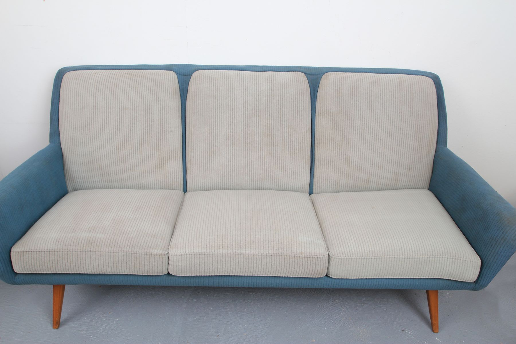Sofa in pigeon blue light gray 1950s for sale at pamono for Blue sofas for sale