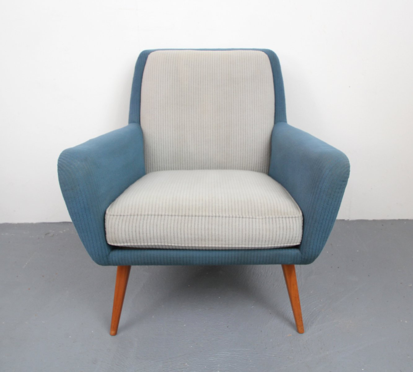Armchair in pigeon blue light gray 1950s for sale at pamono for Light blue armchair