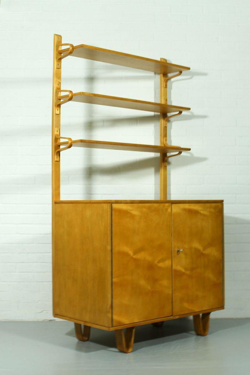freistehender schrank b cherregal von cees braakman f r pastoe 1950er bei pamono kaufen. Black Bedroom Furniture Sets. Home Design Ideas