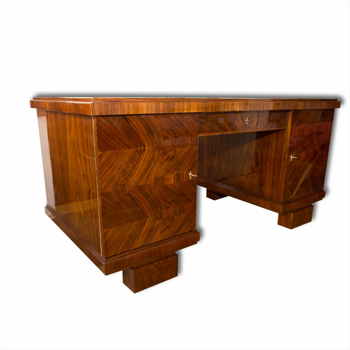 Art deco writing desk in walnut 1930s for sale at pamono for Art deco writing