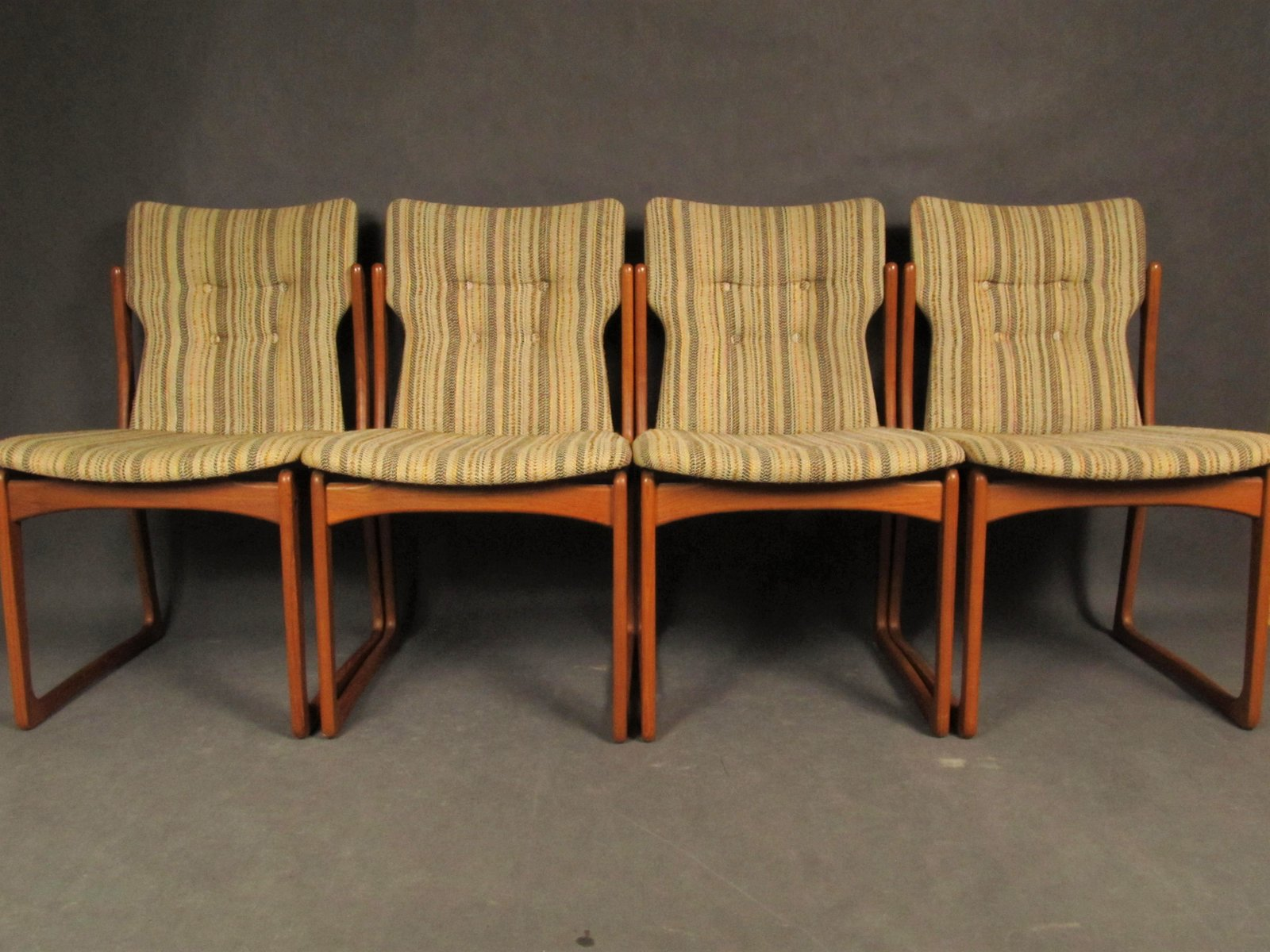 Mid Century Dining Room Chairs From Vamdrup Stolefabrik, 1960s, Set Of 4 Part 72