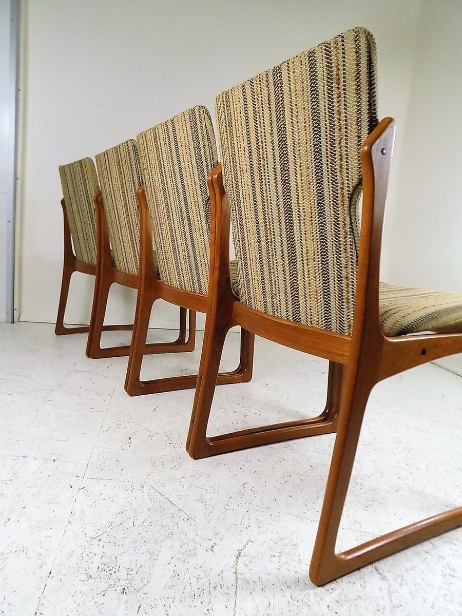 Mid-Century Dining Room Chairs from Vamdrup Stolefabrik, 1960s ...