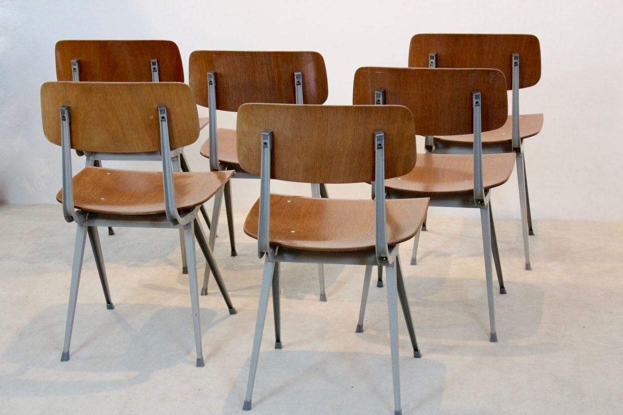 Industrial result dining chairs by friso kramer for ahrend de cirkel 1969 set of 6 for sale at - Kamer dining ...