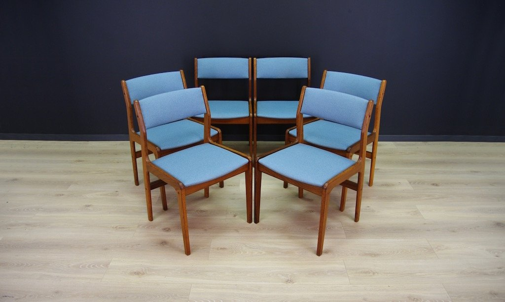 d nische mid century teak st hle von farstrup 6er set bei pamono kaufen. Black Bedroom Furniture Sets. Home Design Ideas