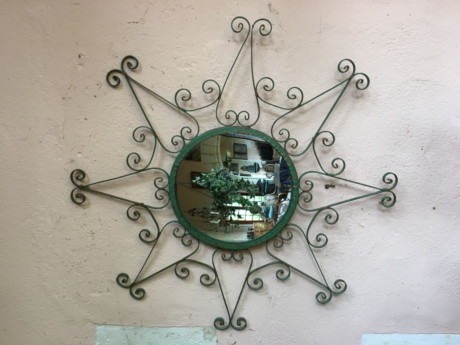 Metal framed wall mirror 1950s for sale at pamono metal framed wall mirror 1950s amipublicfo Choice Image