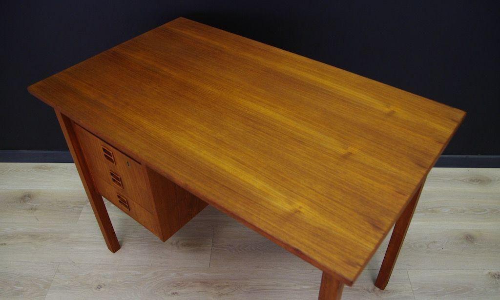 d nischer mid century teak furnier schreibtisch bei pamono kaufen. Black Bedroom Furniture Sets. Home Design Ideas