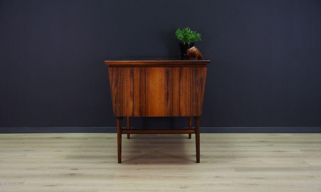 d nischer mid century palisander furnier schreibtisch bei. Black Bedroom Furniture Sets. Home Design Ideas