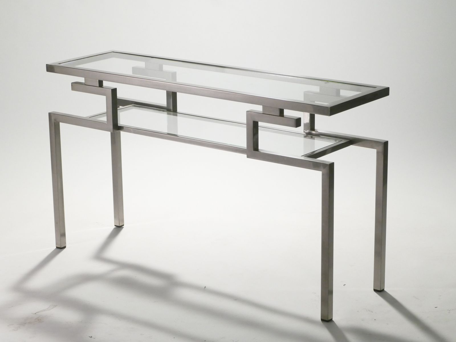 Console table by guy lefevre for maison jansen 1970s for for Sofa table rules