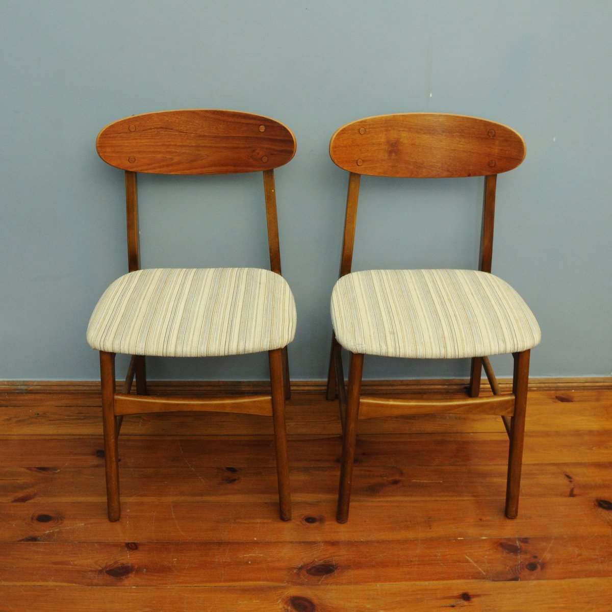 Danish Teak Chairs, 1960s, Set Of 2