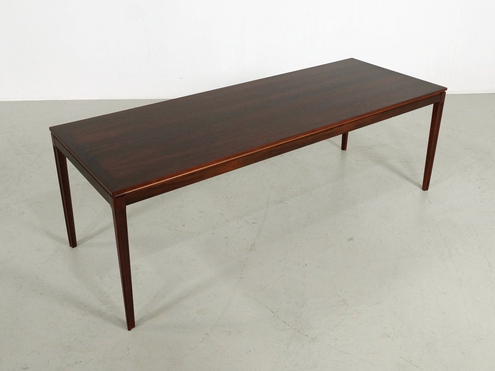 Long rectangular rio rosewood coffee table 1960s for sale for Long coffee table