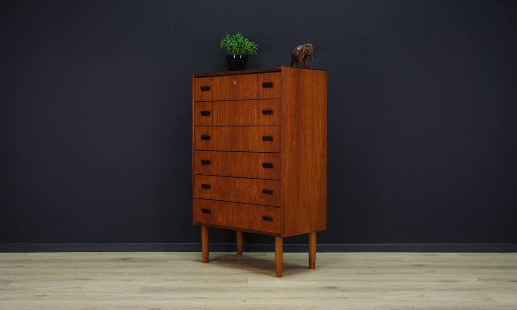 d nische minimalistische mid century teak kommode bei pamono kaufen. Black Bedroom Furniture Sets. Home Design Ideas