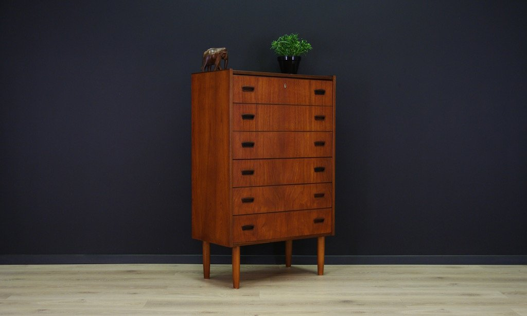 d nische minimalistische mid century teak kommode bei. Black Bedroom Furniture Sets. Home Design Ideas
