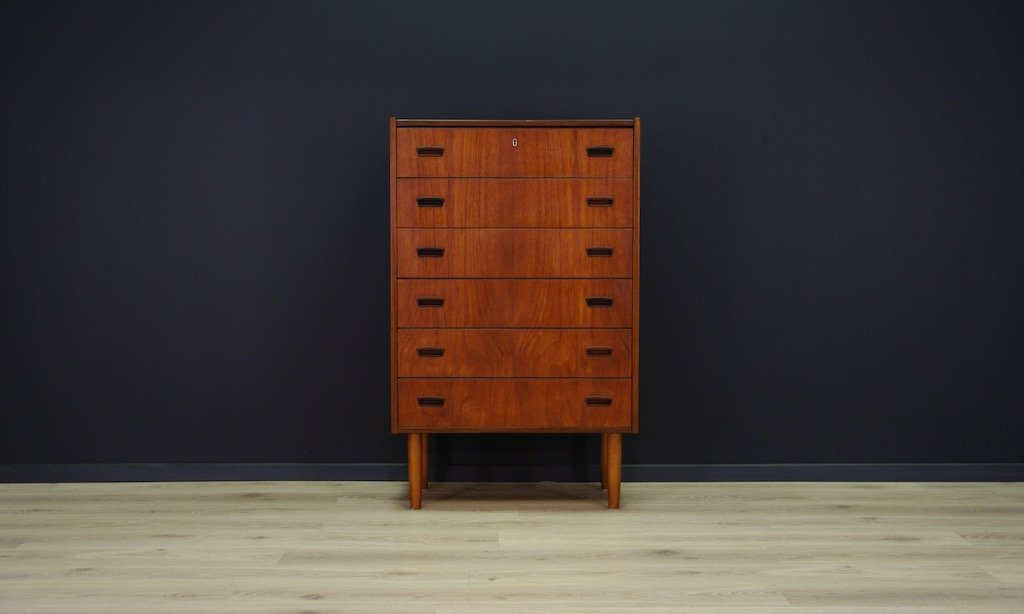 d nische minimalistische mid century teak kommode bei pamono kaufen. Black Bedroom Furniture Sets. Home Design Ideas