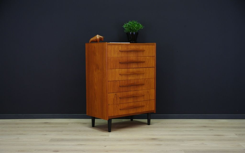skandinavische moderne mid century teak kommode bei pamono. Black Bedroom Furniture Sets. Home Design Ideas