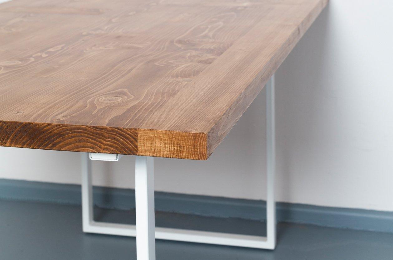 ausziehbarer eijsden tisch aus recyceltem bauholz stahl von johanenlies 2017 bei pamono kaufen. Black Bedroom Furniture Sets. Home Design Ideas