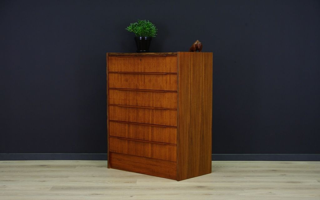 d nische minimalistische vintage teak kommode bei pamono kaufen. Black Bedroom Furniture Sets. Home Design Ideas