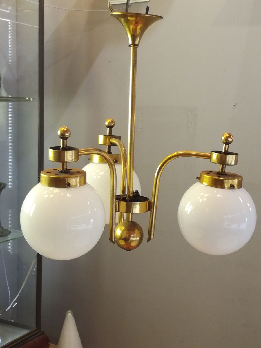 Vintage 3 Light Ceiling Lamp For Sale At Pamono