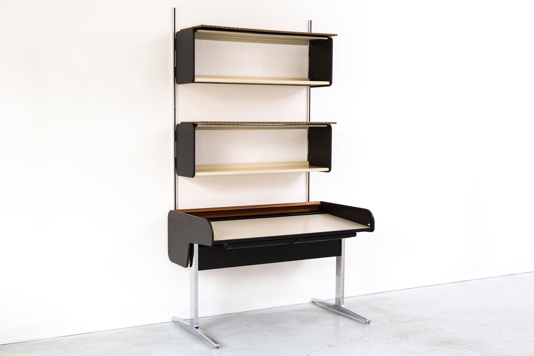 mid century action office desk wall unit by george nelson for herman miller for sale at pamono. Black Bedroom Furniture Sets. Home Design Ideas